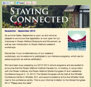 rosen newsletter fall 2013