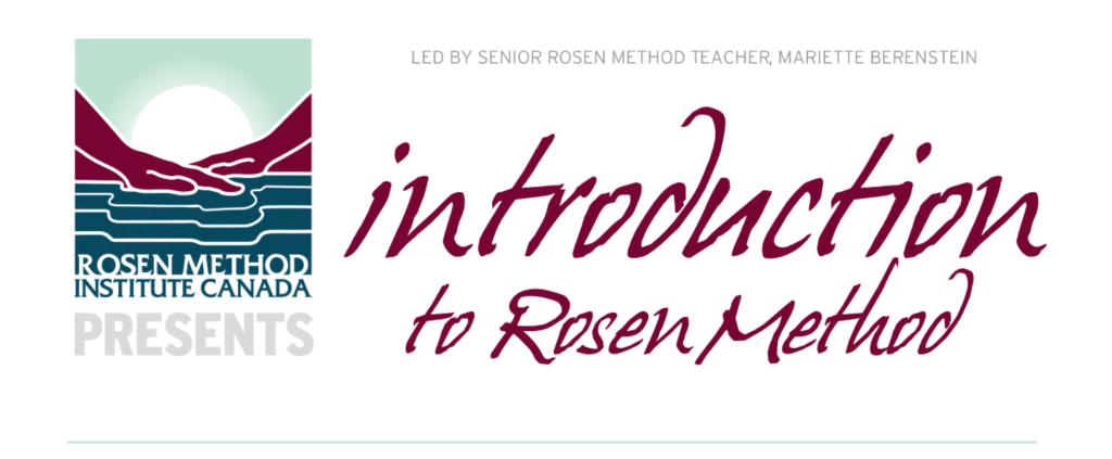 intro to rosen method banner